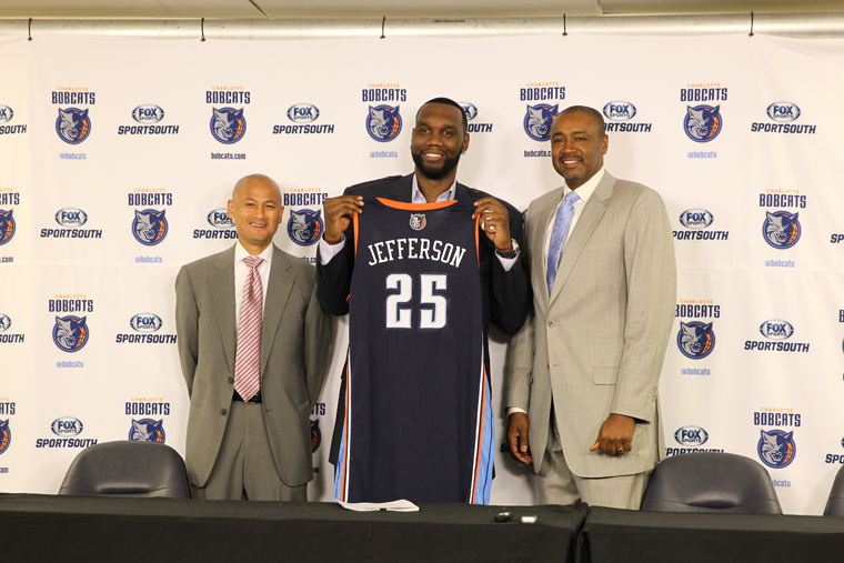 Al Jefferson is announced by Charlotte Bobcats as newly signed free agent.